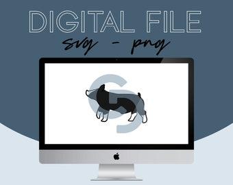Show Pig Livestock Graphic - Digital File 2021.21