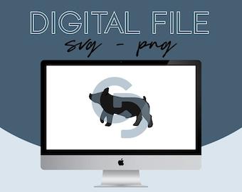 Show Pig Livestock Graphic - Digital File 2021.22