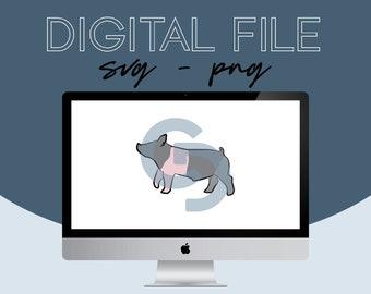 Show Pig Livestock Graphic - Digital File 2021.20