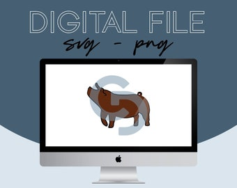 Show Pig Livestock Graphic - Digital File 2021.29