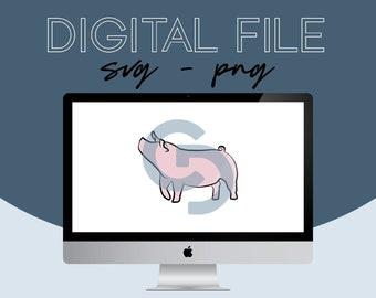 Show Pig Livestock Graphic - Digital File 2021.25 - 3 Styles