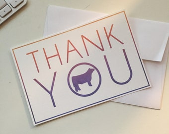 Show Steer Thank You Cards - 4x6 - Flat QTY 5