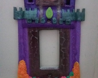 Fairy Castle Light Switch Cover Plate Glow in the Dark