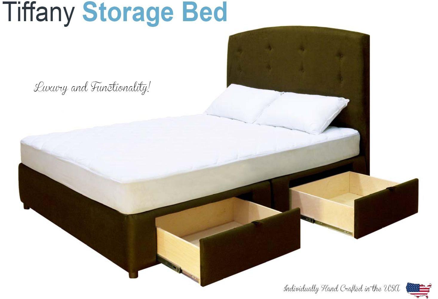 Tiffany 4 cajones plataforma cama / colchón Storage Box
