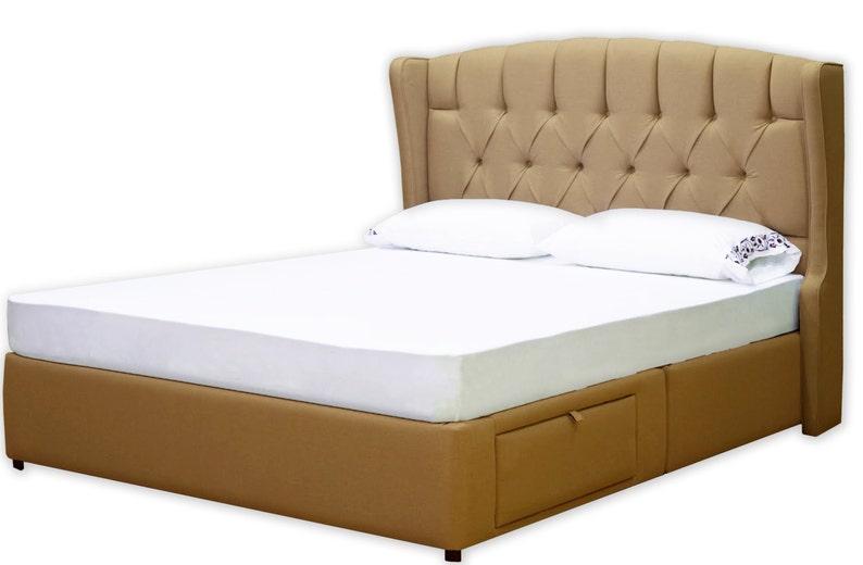 Lussuoso letto contenitore imbottito nella vostra scelta di | Etsy