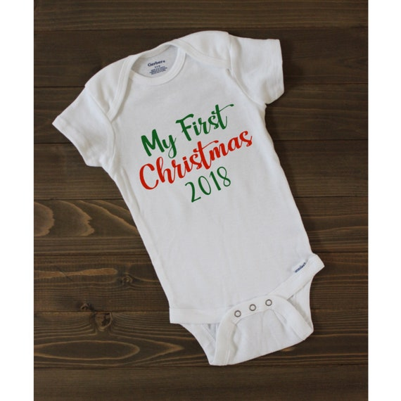 baby first Christmas onesie baby gift funny saying My first Christmas baby onesie baby shower gift