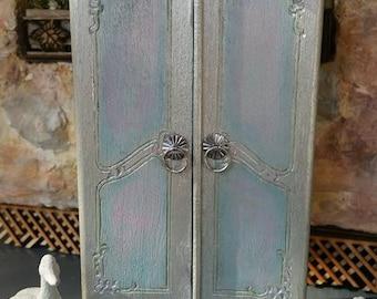 Victorian Dollhouse Armoire Dresser Cabinet