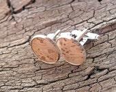 Cork wedding cufflinks. Vegan eco-friendly cufflinks. Cork oak for groom's and groomsmen cuff buttons. Gift for best man usher groomsman