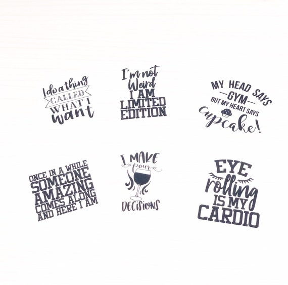 Die cuts - Sassy quotes 6