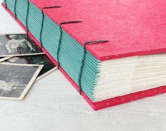 SALE, Wedding Guest book, Blank Album, Memorabilia Book, Travel Scrapbook, Handmade Album, Large Scrapbook
