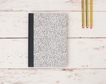 Handmade notebook for writers, poets and creatives. Blue and cream. Gifts for Writers.