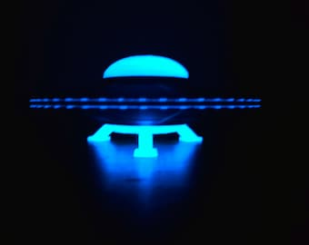 ExtraTerrestrial Alien Spacecraft Flying Saucer Area 51 UFO unidentified Flying Object Martian spaceship Glow in the Dark AlienStock fun!!!