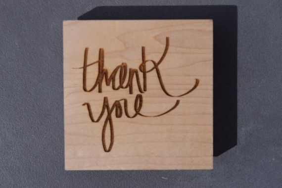Thank You Cardmaking Stamp Diy Thank You Notes Stationary Etsy