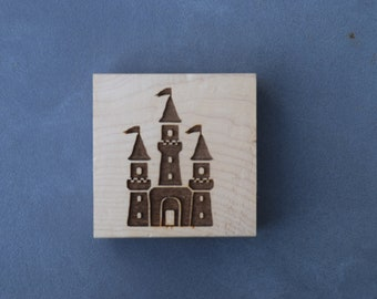 Princess Castle, Fairytale Theme Stamp, Party, Scrapbooking, Cardmaking, Tag Design, Nursery Decor, Baby Shower, Birthday Party