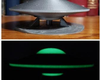 ExtraTerrestrial Alien Spacecraft Flying Saucer Area 51 UFO unidentified Flying Object Martian spaceship Glow in the Dark AlienStock collect