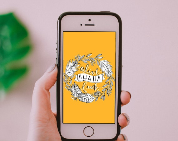 Alive Ahaha F*ck Phone Wallpaper- Digital Dowload