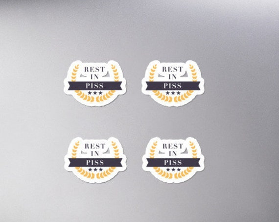 Rest in Piss Bubble-free sticker PACK of 4