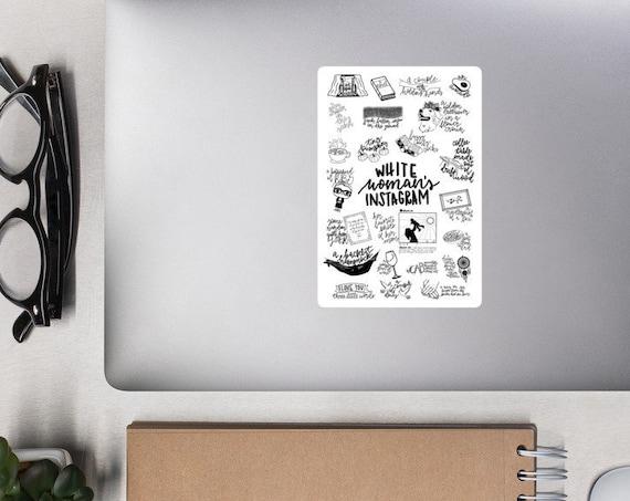 Bo Burnham's White Woman Instagram Bubble-free stickers
