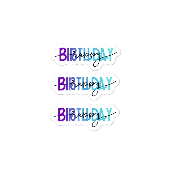 Happy Birthday Bubble-free sticker pack