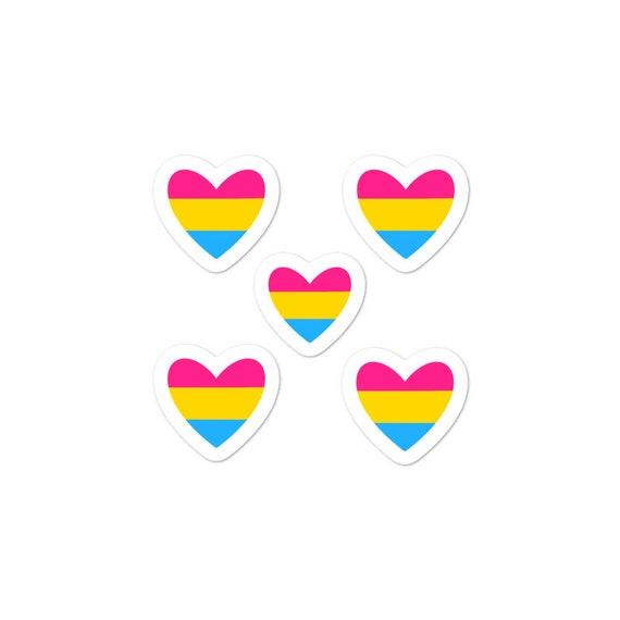 Pan Heart Bubble-free sticker pack (5)