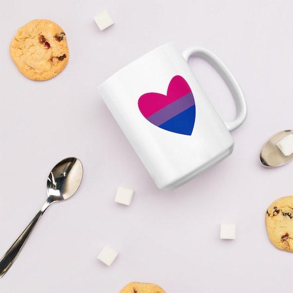 Bi Heart Double-Sided Ceramic Mug