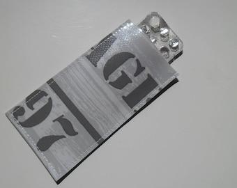 Pill case / pillbox woman grey n ° 97