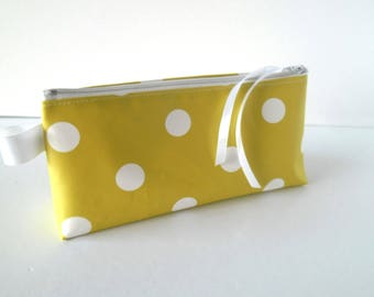 Clutch pencil or makeup dot lime and white