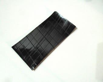 Pill case / pillbox woman black and grey