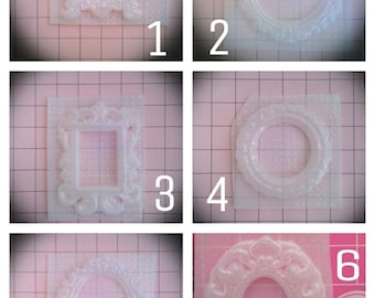 More Ornate Picture Frame Resin Molds You Choose from 8 Designs