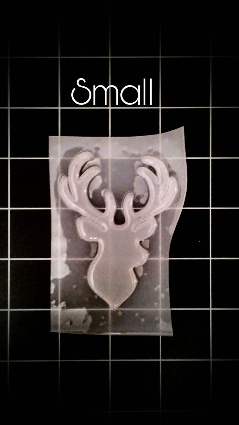 Deer buck Head Christmas Ornament Mold 4 sizes and styles