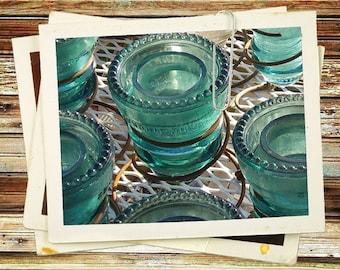 Glass Insulator, Turquoise, Tea Light Candle