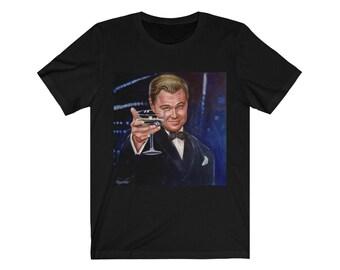 Leonardo DiCaprio, the toast from the great Gatsby Jersey Short Sleeve Tee