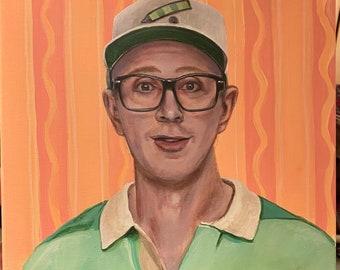 """Steve from blues clues. 12"""" x 12"""" original canvas portrait"""