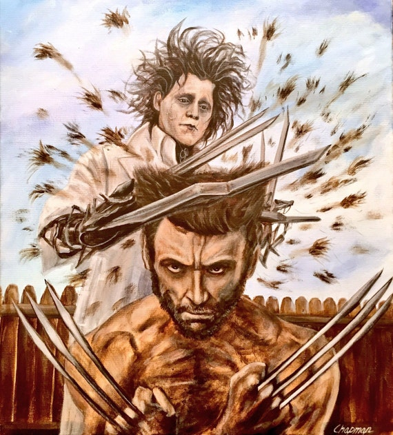 Edward Scissorhands Cuts Wolverines Hair 16x20 Print Etsy