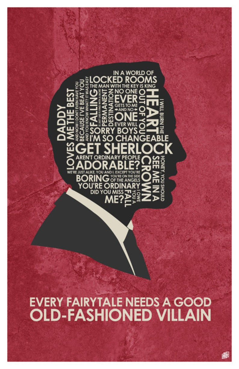 Sherlock - Jim Moriarty Quote Poster