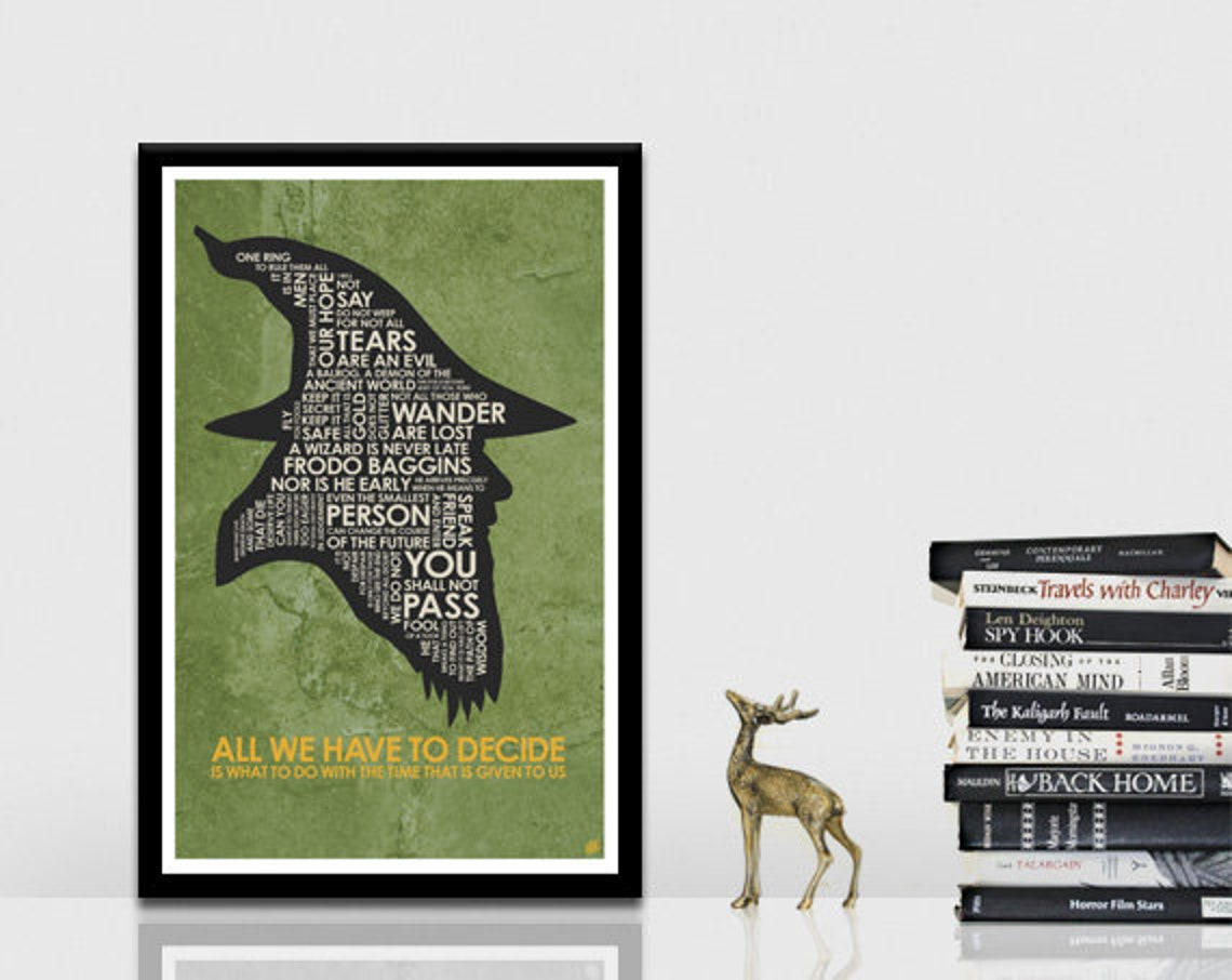 Lord Of The Rings Quote Poster Etsy