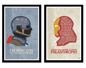 Captain America Civil War Quote Poster Set