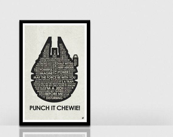 Star Wars Millennium Falcon Quote Poster