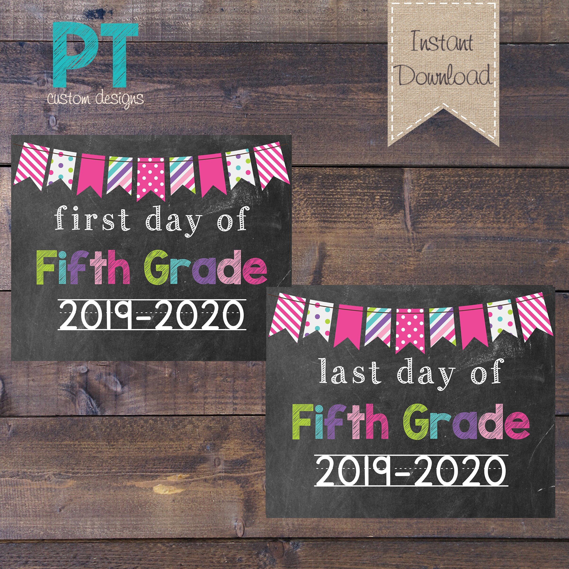 INSTANT DOWNLOAD 5th Grade First Day and Last Day of ...