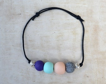 Forget Me Knot - Polymer Clay Bracelet in Gelato