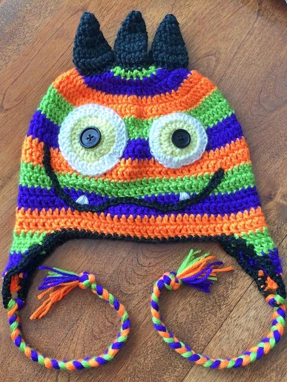 Monster Crochet Hat Pattern Etsy