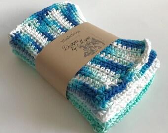 Crochet Multi-Colored Washcloths