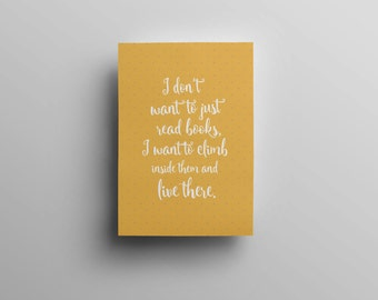 Bookish Quote Literary Print - Printable Pantone Bookish Quote Print