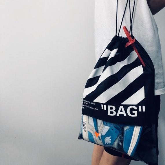 OW OFF-WHITE X Nike Custom Drawstring bag