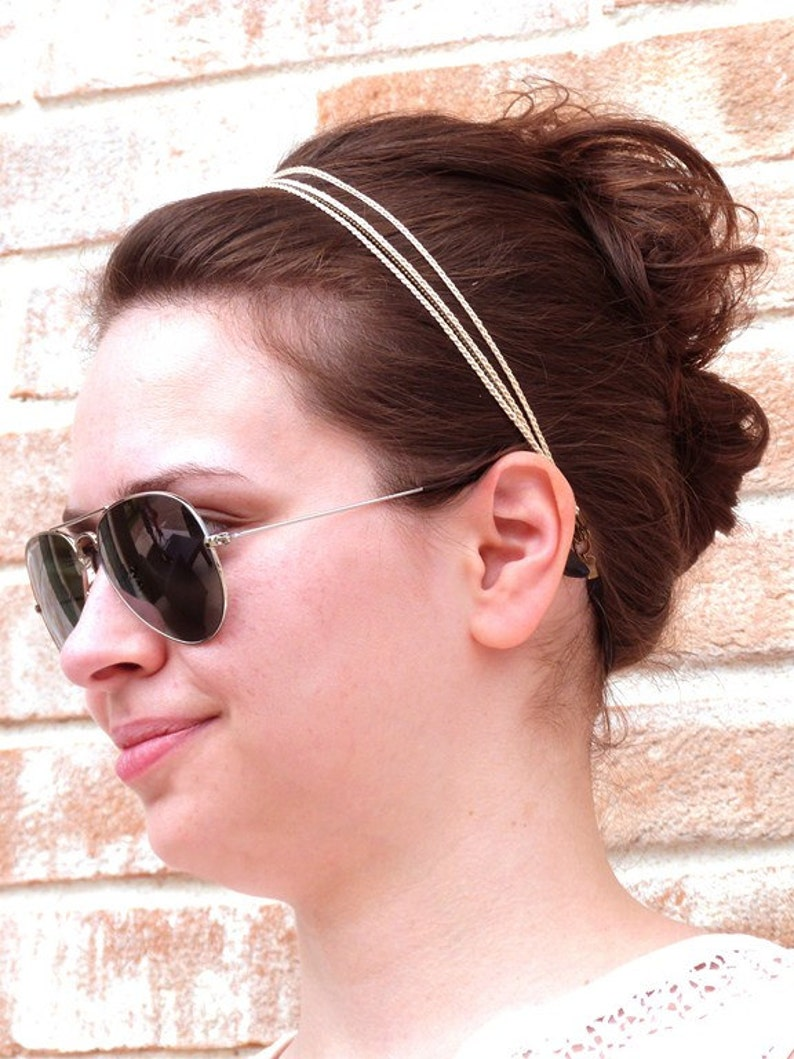 Beige headband 3 braids  wedding hair vine / ceremony / every image 0