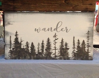 Wander -  reclaimed wood sign