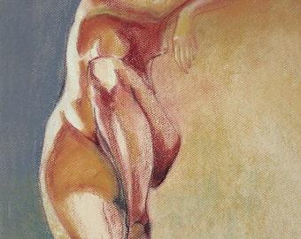 "Figure Drawing Female Nude by Lucy Morar / Fine Art Print 8""x10"" / Liza"