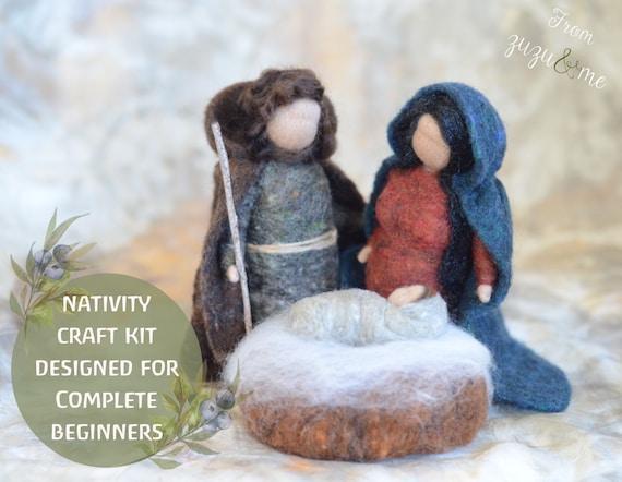 Nativity Set  Waldorf Style Needle Felted Nativity