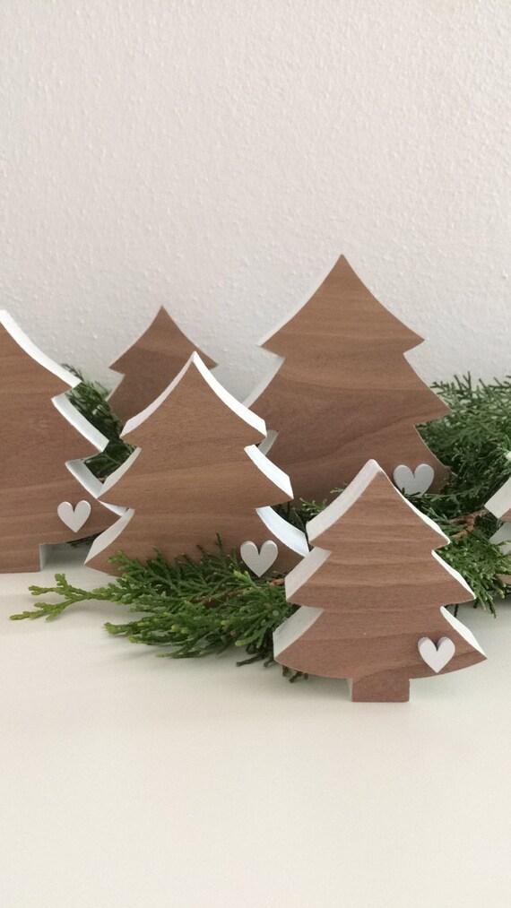Albero Di Natale Con Neve Etsy