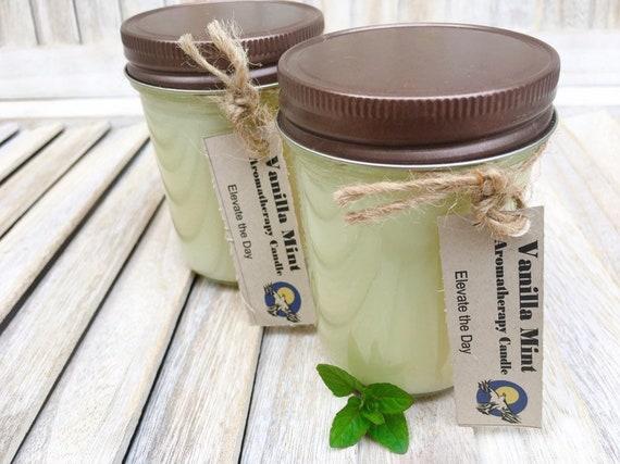 Vanilla Mint Soy Candles - Handmade Candles